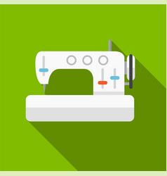 Sewing machine flat icon vector