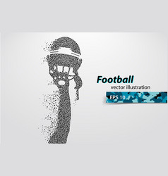 Silhouette a football helmet and hand from vector