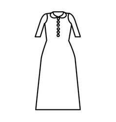 Silhouette long dress cloth style vector
