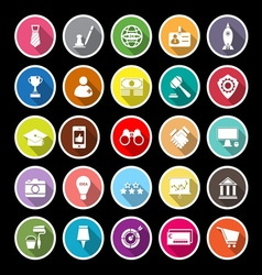 SME flat icons with long shadow vector image