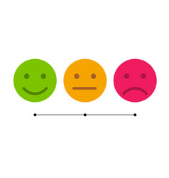 Smiley icon set emoticons positive neutral and vector