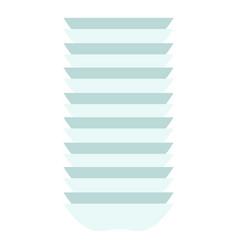 stack plate icon flat style vector image