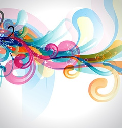 Stylish colorful floral vector