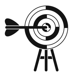 Target with an arrow icon simple style vector