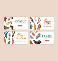 Template design shoe store s discount vector