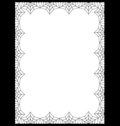 template with space for text framed with vector image