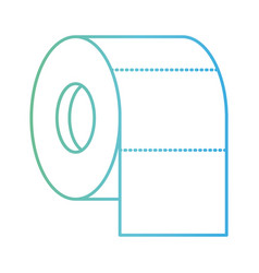 toilet paper roll in degraded green to blue color vector image