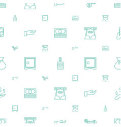 wealth icons pattern seamless white background vector image