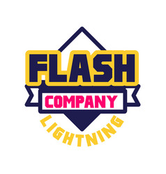 flash lightning company logo template design vector image vector image