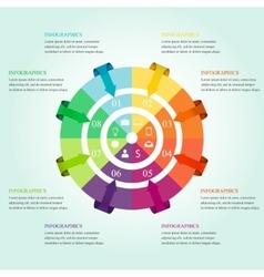 Modern infographics design vector image vector image