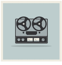 Retro background Open Reel Recorder vector image