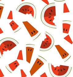 Seamless pattern with watermelon slices vector image
