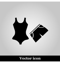 Swimming trunks and Bikini flat Icon vector image vector image