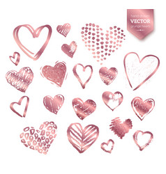 valentine hearts on white background vector image