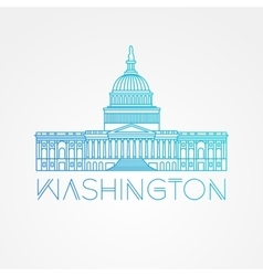 Washington DC US Capitol Building vector image