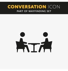 conversation icon vector image vector image