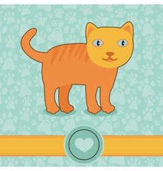 funny cartoon cat vector image vector image