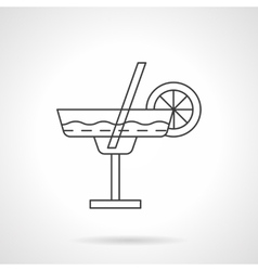 Margarita cocktail flat thin line icon vector image