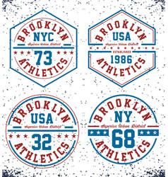 set athletics brookyn t shirt graphic vector image vector image