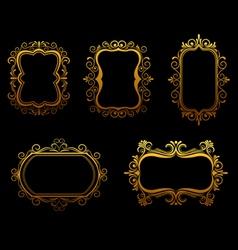 antique golden frames vector image vector image