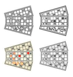 bingo icon in cartoon style isolated on white vector image vector image