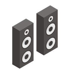 Musical speakers isometric 3d icon vector image vector image