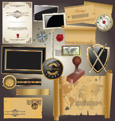 Vintage Stuff Collection vector image vector image