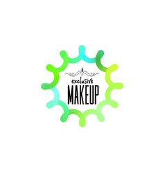 badge as part of the design - cosmetics logo vector image