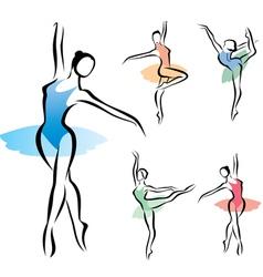 balet dancer vector image