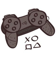 game joystick colored button with a black outline vector image vector image