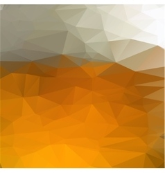 geometric yellow beer background vector image vector image