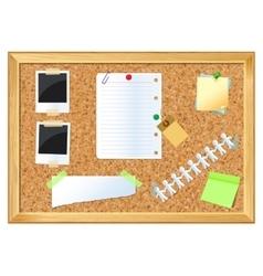 Pin board vector image vector image