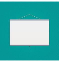 projector screen over green vector image