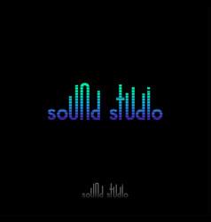 sound studio logo emblem gradient equalizer vector image vector image