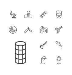 13 hair icons vector