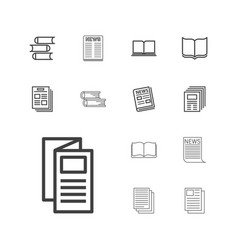 13 publication icons vector