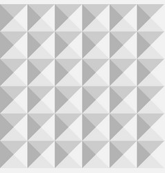 3d paper pyramids seamless pattern vector image