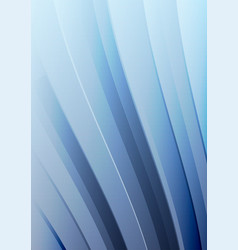 abstract blue wave background waved lines vector image