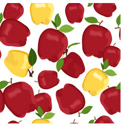 Apple seamless pattern dropping on white vector
