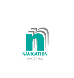 badge for navigation systems vector image