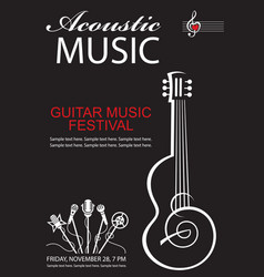 Banner with guitar vector