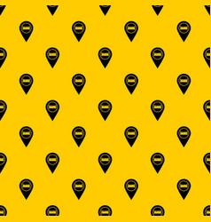 Bed hostel hotel sign pattern vector