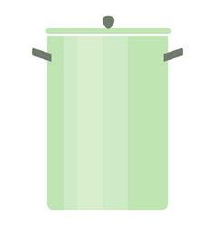 big saucepan icon flat style vector image