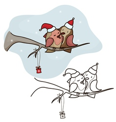 bird christmas vector image