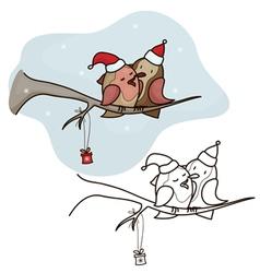 bird christmas vector image vector image