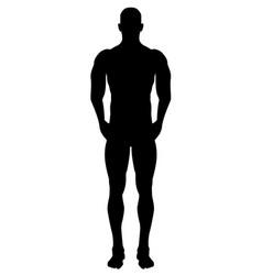 Black body silhouette vector
