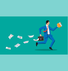 Businessman is fast running vector