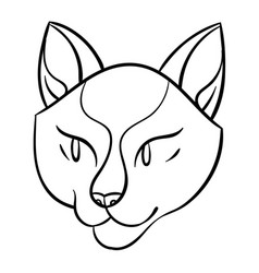 Cartoon cat head vector