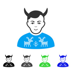 Cheerful deers pullover horned husband icon vector