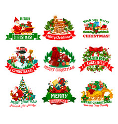 christmas holidays festive icon for xmas design vector image